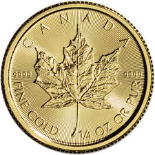 Canada Gold Maple Leaf - 1/4 oz - $10 - BU - .9999 Fine - Random Date