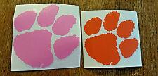 Orange PINK or Purple Clemson Tiger Paw VINYL WINDOW DECAL CAR STICKER for YETI