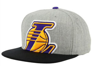 Los Angeles Lakers Mitchell & Ness Cropped Heather Adjustable Snapback Cap Hat