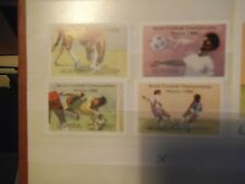 UGANDA 1986 MEXICO FOOTBALL WORLD CUP SET OF ALL FOUR STAMPS MNH PLUS MINIATURE