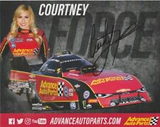 2018 Courtney Force signed Advance Auto Parts Chevy Camaro FC NHRA postcard