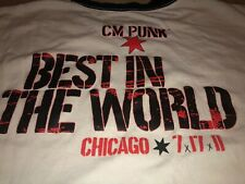 Rare Vintage 2011 CM PUNK Shirt CHICAGO EXCLUSIVE Best In World SOLD OUT Wwf Ecw