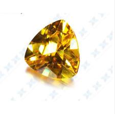 10.46CT YELLOW SAPPHIRE UNHEATED DIAMOND 12MM TRIANGLE CUT AAAA+ LOOSE GEMSTONE