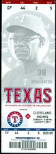 2011 Rangers vs Indians Ticket: Michael Young got his 2,000 hit/Michael Brantley
