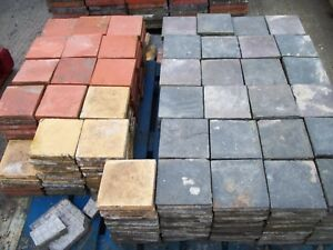 "quarry tiles 6"" x 6"",  victorian  [reclaimed]"