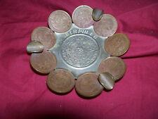 Old Mexican Centavos Coin Souvenir Ashtray Acapulco Vintage Cigarette Mexico