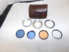 Tiffen Photar 85C, Plus 6, Blue 80, B&W 27E + Adapter Ring Lens Filter Set