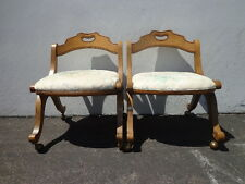 2 Drexel Esperanto French Neoclassical Chairs Wood Regency Hollywood Vintage