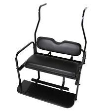 Rear Flip Seat Kit for Club Car Golf Cart DS 2000-2013 Black Back Seat