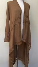 NWT LOVERICHE SWEATER COAT Sz S MOCHA Color Short in Front Long in Back