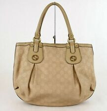 Gucci Scarlet Beige Guccissima Leather Studded Interlocking G Tote Bag 269953