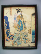 Utagawa Toyokuni III (1786-1864) aka Kunisada Japanese Woodblock Genji Sentiment
