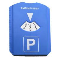 Plastic Car Parking Disc Timer Clock Arrival Time Display Snow Scraper Tool Oma
