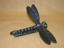 Antique Style Rustic Heavy Cast Iron Dragonfly Door Knocker   Verdigris