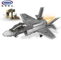 Xingbao Bausteine Militär F35 Kampfflugzeug Luftfahrt Flugzeuge Spielzeug Modell