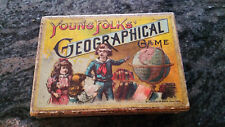 Young Folks Geographical Game  Circa 1904  Mcloughlin Bros.  Ages 18+