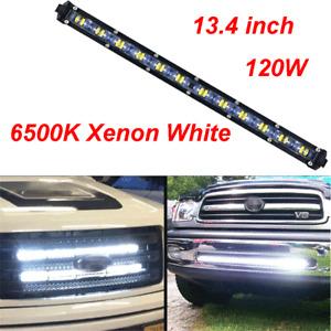 12000LM Aluminum Spot Beam Slim LED Car Truck SUV Off road Single Work Light Bar