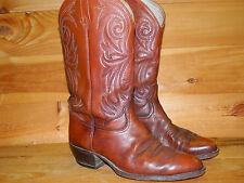 1980's Brown Leather Western Style Boots Size 10 D (used) Dan Post Heel