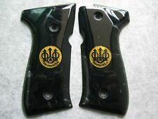 NEW BLACK PEARL COLOR POLYMER RESIN GRIP FOR BERETTA 92, 96, M9 WITH LOGO SIGN