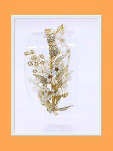 STUNNING GOLD FLOWER WEDDING/BRIDAL TIARA