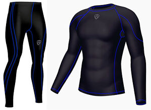 DHERA Mens Compression Armour Base layer Top Skin Fit & compression Leggings
