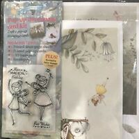 Papercraft FAIRIES & MERMAIDS Pop-Up Card Making Kit w/ Fairy Clear Stamp Set!