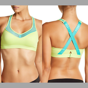 NEW $55 Wacoal Cross Back Sports Bra Green Blue 852214 [ SZ 36C/D ] #H539
