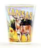 KANSAS STATE MURAL SHOT GLASS SHOTGLASS