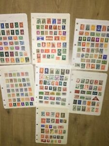 Netherlands and Norway Vintage Stamps - 7 sheets as found