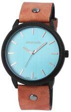 Men's Watch Blue Brown Analogue Quartz Metal Leather Modern W-295073000183500