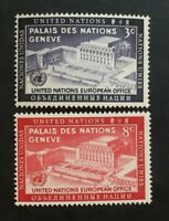 Stamp United Nations Geneve Yvert and Tellier N°25 & 26 N MNH (Cyn37)