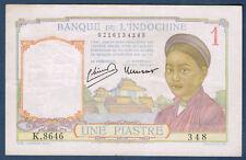 BILLET DE BANQUE D'INDOCHINE.UNE PIASTRE Pick n°54.c de 1932/1939 SUP K.8646 348