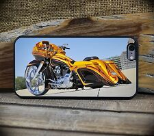 Harley RoadGlide Yellow iPhone 5C through 7S+Samsung Galaxy S5,S6 or S7  phone c