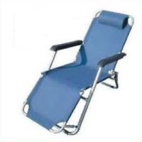 tumbona azul sillón relax plegable con reposabrazos y reposacabezas