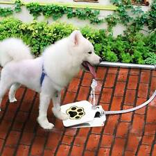 Outdoor Pet Dog Activated Drinking Water Fountain Hose Step Spray Foot Pedal
