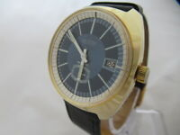 NOS NEW VINTAGE MECHANICAL HAND WINDING NEWTON ANTICHOC MEN'S WATCH WITH DATE
