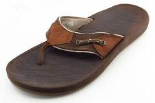 Columbia Size 10 M Brown Flip Flop Leather Men Shoes