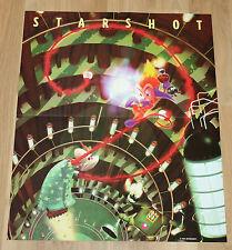 N64 Nintendo 1998 Starshot Space Circus Fever / V-Rally 99 rare Poster 54x44cm