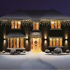 480 LEDs Icicle Lights Snowing Effect Xmas Christmas House - Warm White LED