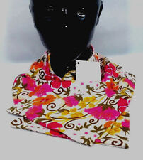 Vera Bradley Tea Garden Scarf Knit Flower Pink Orange Gold New Breast Cancer