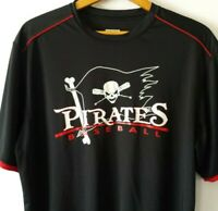 AUGUSTA SPORTSWEAR Adult Large Pirates Baseball Shirt Polyester Black Red Mexico