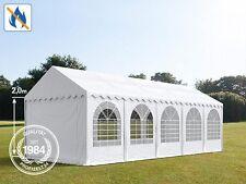 4x10m Partyzelt Festzelt PROFESSIONAL 2m PVC 550g/m2 in weiß feuersicher