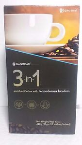 GANOCAFE 3 IN 1 GANODERMA  (20 SACHETS x 21 gr)  EXPIRATION DATE 09/2022 NEW