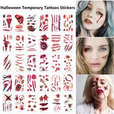 30pcs/lot Halloween Horror Scars Water Transfer Slider Temporary&Tattoos Sticker