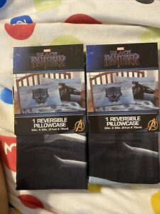 Two Black Panther Reversible Pillow Cases