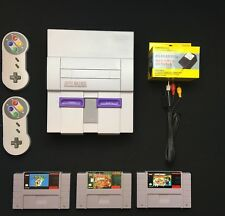 Super Nintendo Original Console Retro SNES System + Mario World & 2 Controllers