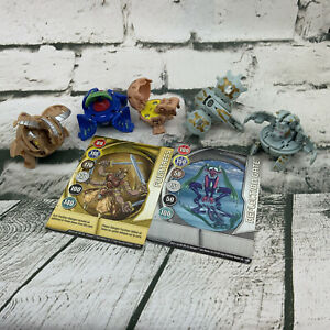 Bakugan Battle Brawlers Lot Of 5 Plus Cards Frosch Dragonoid