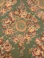 French Tapestry Upholstery Fabric  5.5  Yards