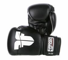 Fighter Black Synthetic-Leather Imf Muay Thai Boxing Gloves