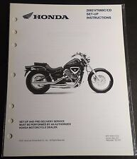 New listing 2002 Honda Motorcycle Vt600C/Cd Set-Up Pre-Delivery Instructions Manual (653)